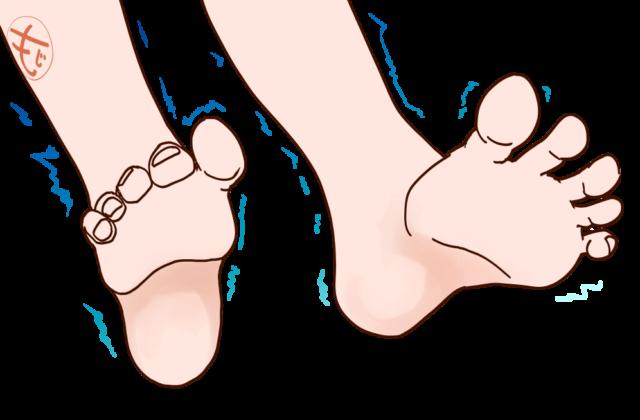 足の冷えのイラスト