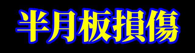 「半月板損傷」文字デザインイラスト!無料ダウンロード素材