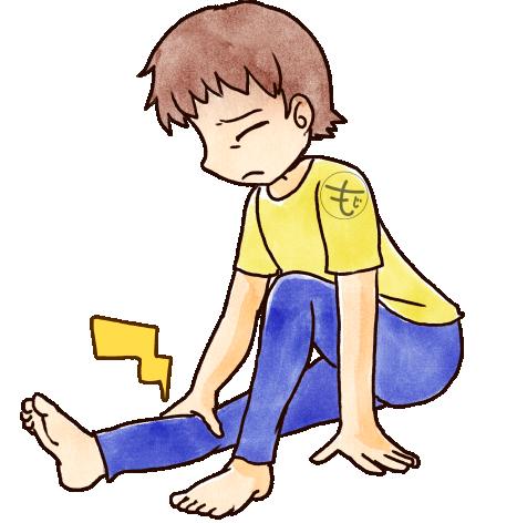 膝が痛い男の人のイラスト