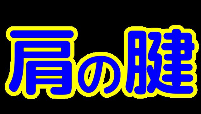 「肩の腱」文字デザインイラスト!無料ダウンロード素材