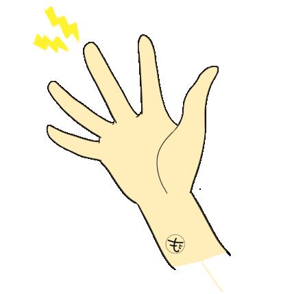 指が痛いイラスト